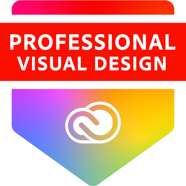 Virginie Delaitre, Adobe Certified Specialist in Visual Design Badge
